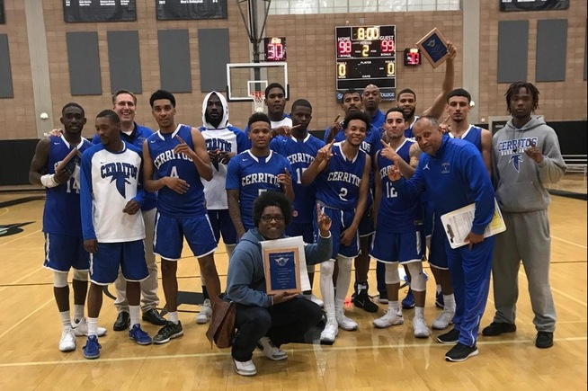 Cerritos captured the championship of the San Diego Miramar Tournament