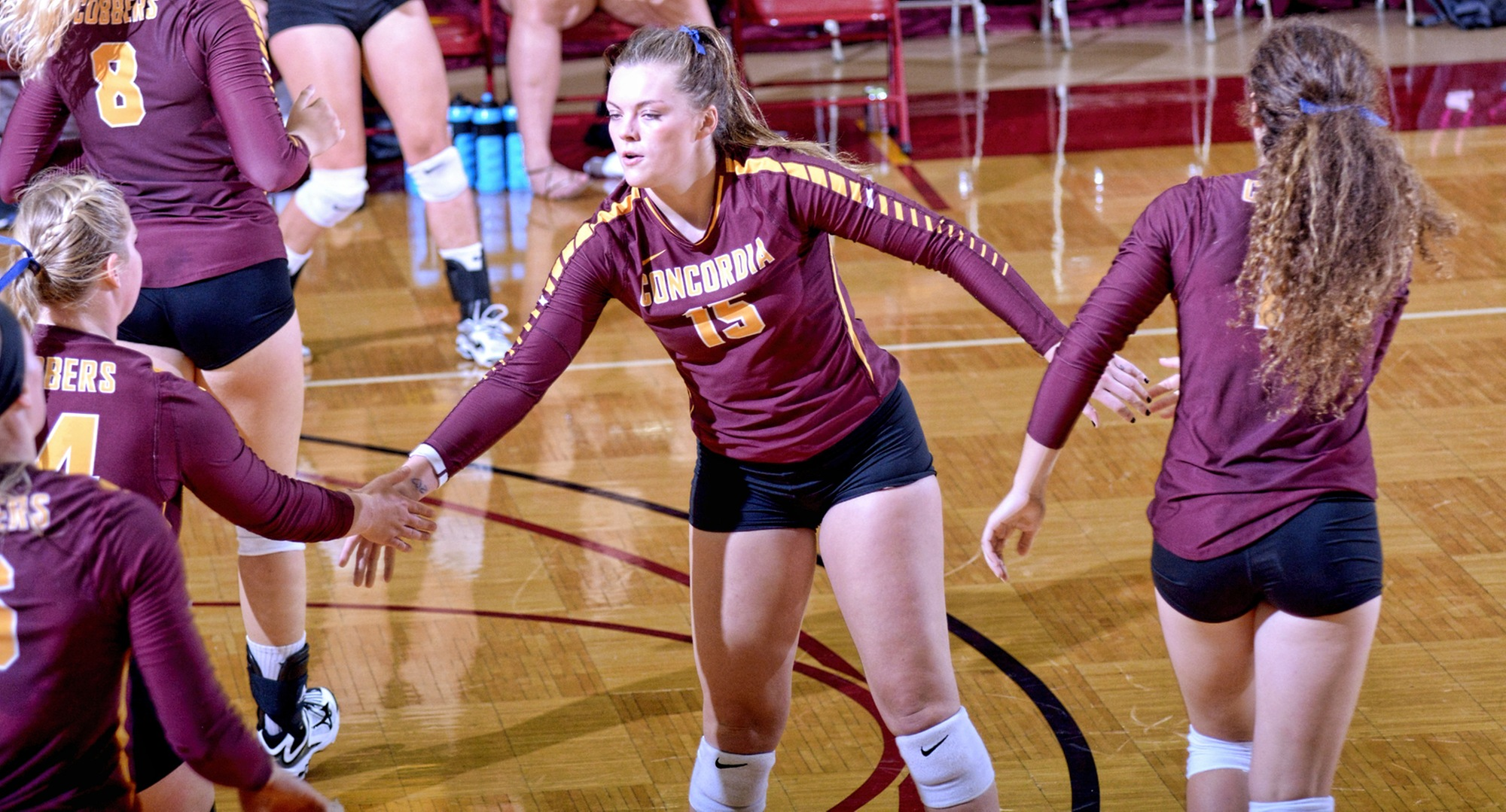 Concordia freshman Faith Anderson had 24 kills in the final two matches at the Wis.-Eau Claire Tournament and was named to the All-Tournament Team.