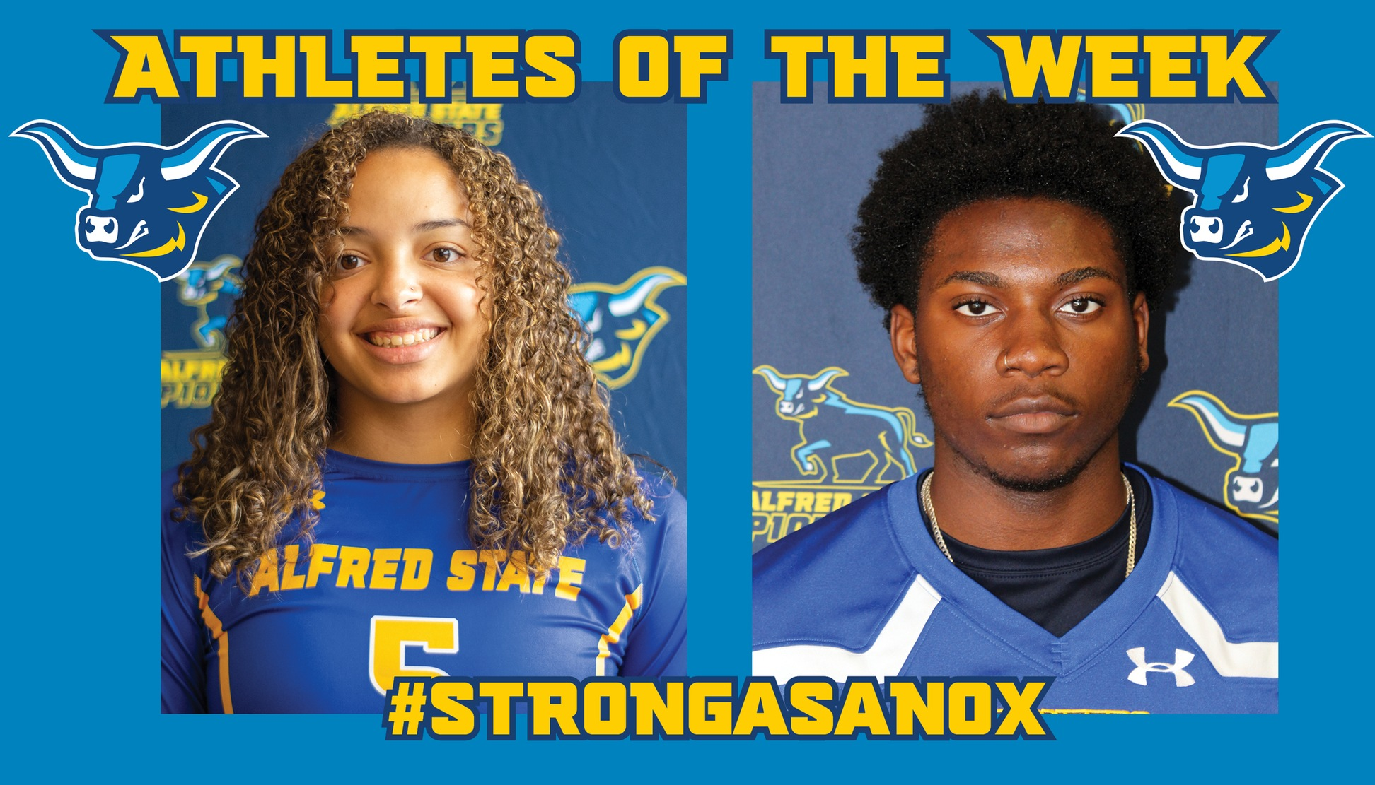 Kiara Perkins and Andrew Pierre-Paul Named Alfred State Athletes of the Week