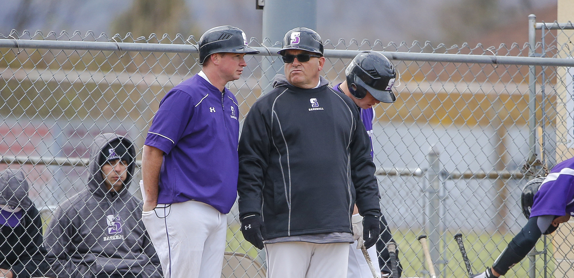 Head coach Mike Bartoletti, right, and assistant coach Mike Guy piloted the Royals to a 19-19 record this past spring.