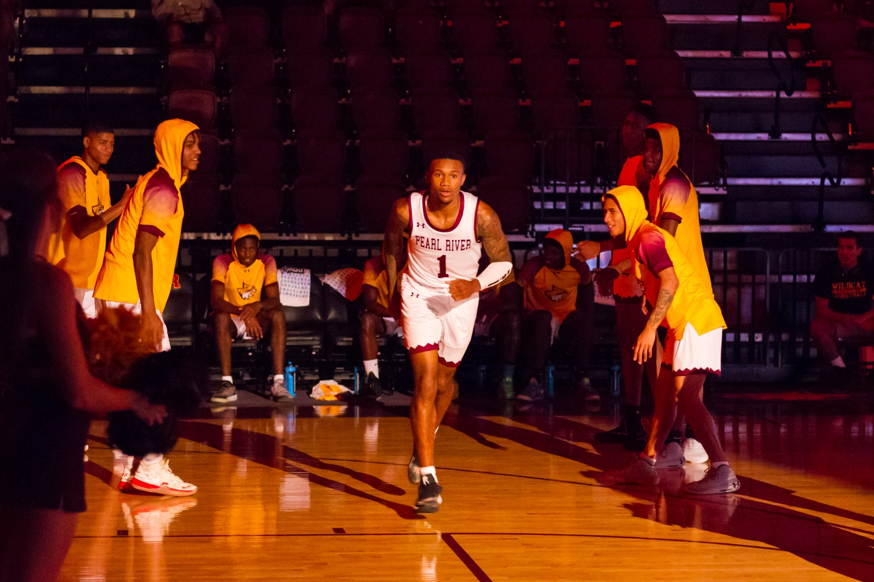 No. 11 Pearl River defeated visiting William Carey JV 116-33 on Thursday, Nov. 7, 2019 in the Marvin R. White Coliseum in Poplarville, Miss. (BRETT RUSS/PRCC ATHLETICS)