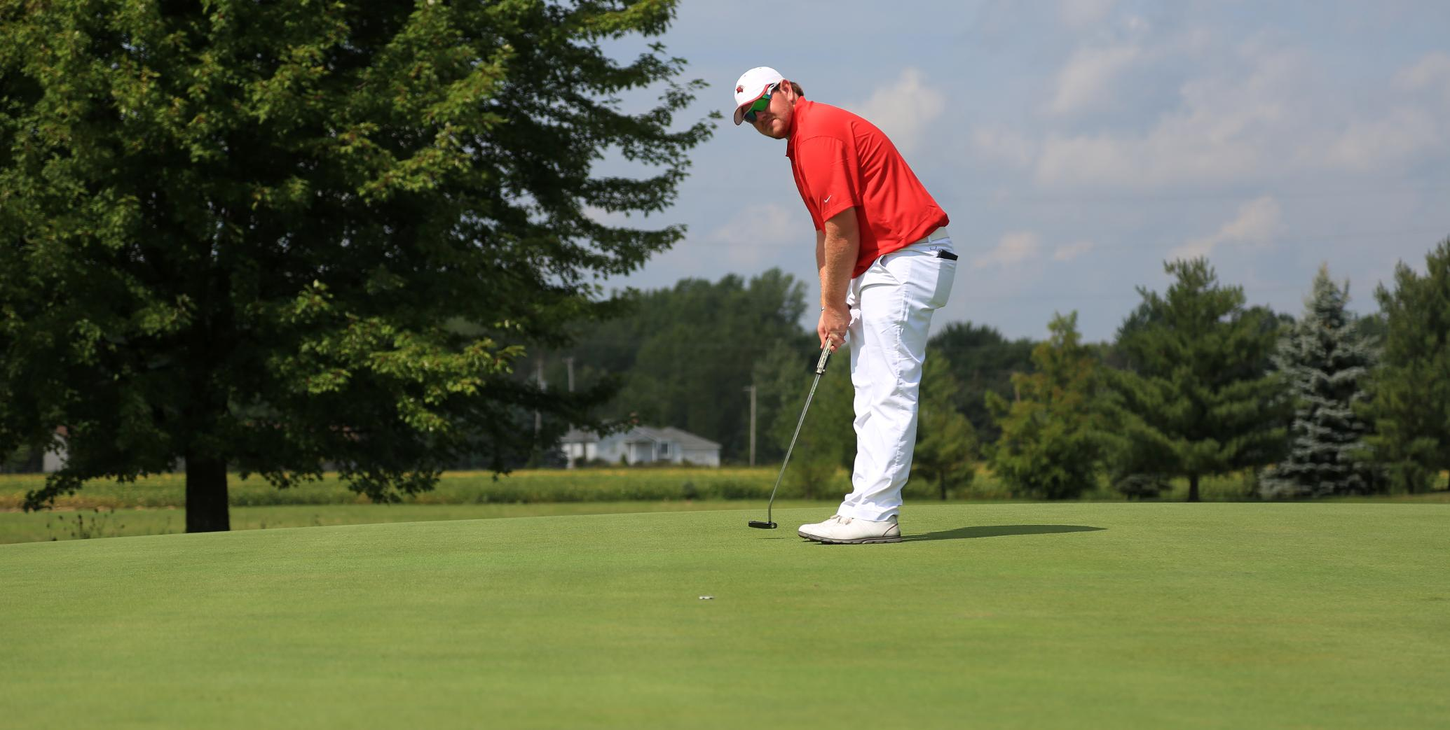 Mason Motte had the low score of 74 for the Cardinals in the first round...