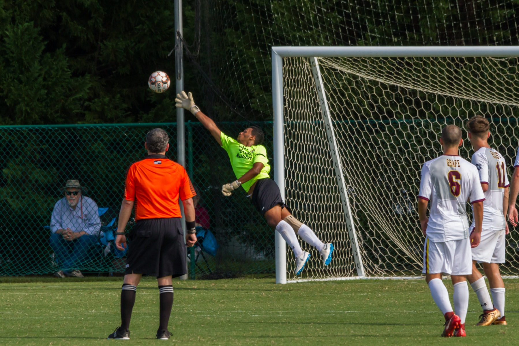 Pearl River Community College goalkeeper Kobe Lie makes a save during the Wildcats' 4-0 win over Itawamba Community College on Wednesday, Aug. 22, 2018. (BRETT RUSS/PRCC ATHLETICS)