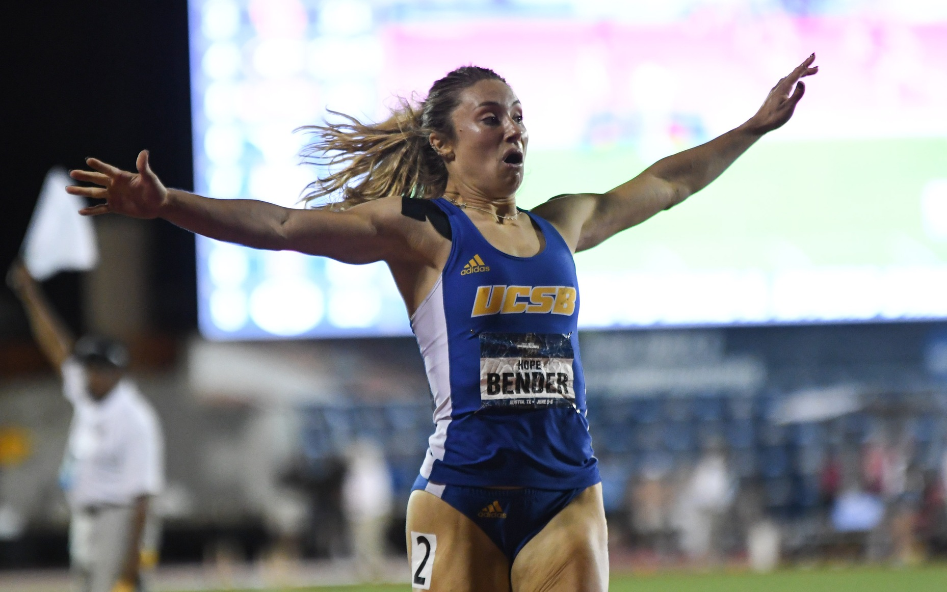 Hope Bender Sets School Record in 200m at NCAA Championships