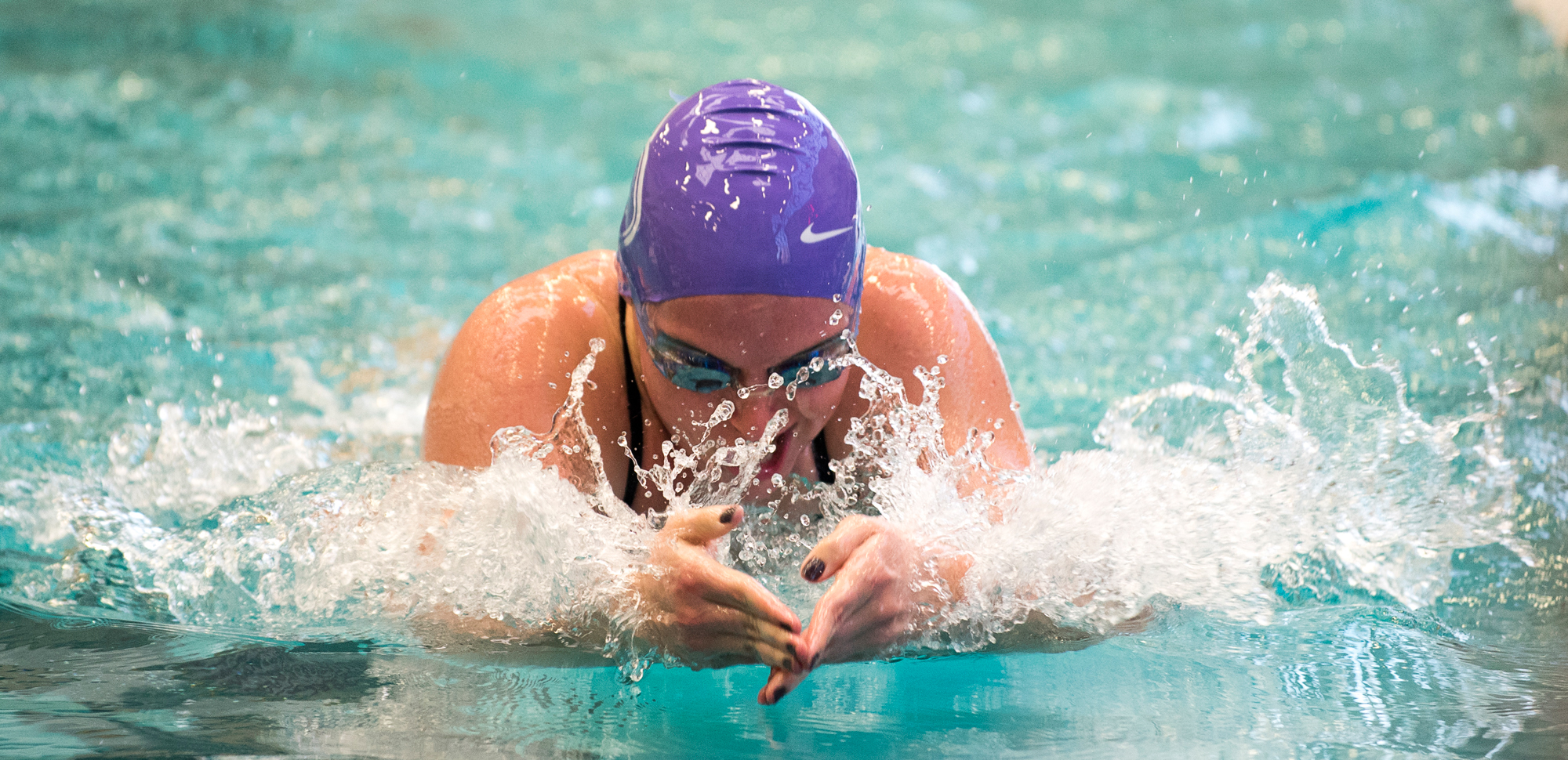 Sophomore Claire Mason won the 400-IM on the evening, as the Royals stayed in second place overall at the Landmark Conference Championships on Saturday.