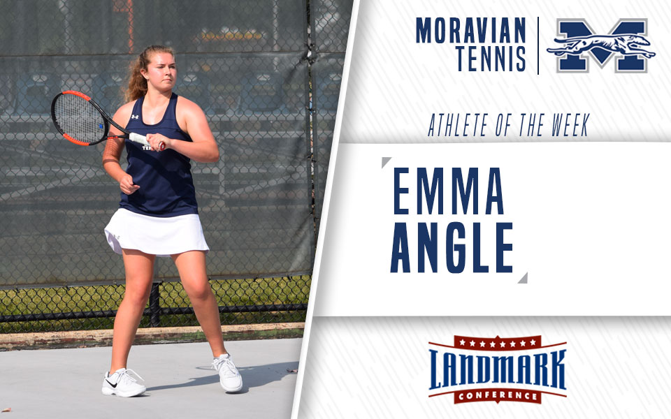 Emma Angle honored as Landmark Conference Women's Tennis Athlete of the Week