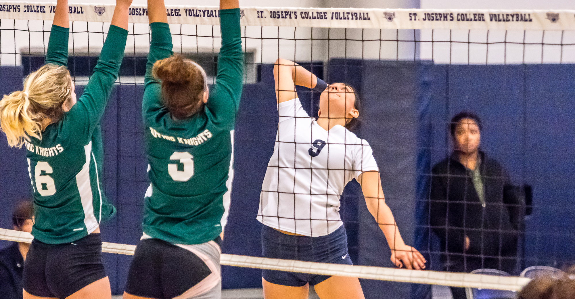 Women's Volleyball Stifled by New Jersey City in Hill Center Finale
