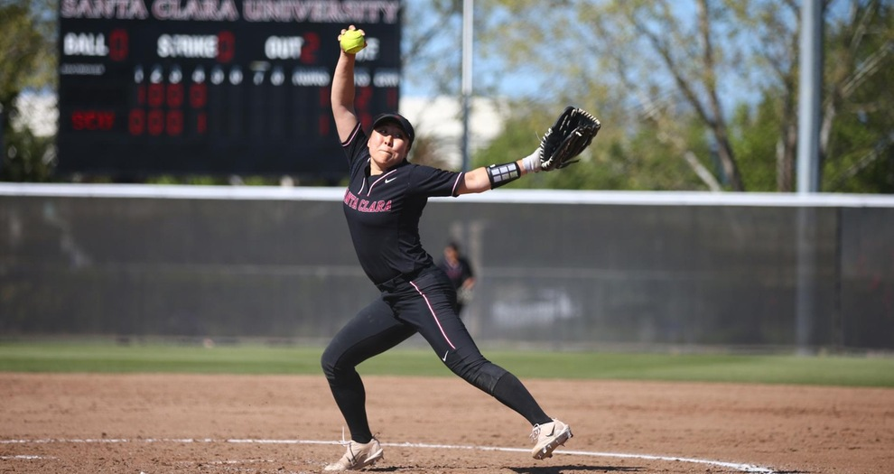 Kim's No-Hitter Helps Softball Split at Pacific