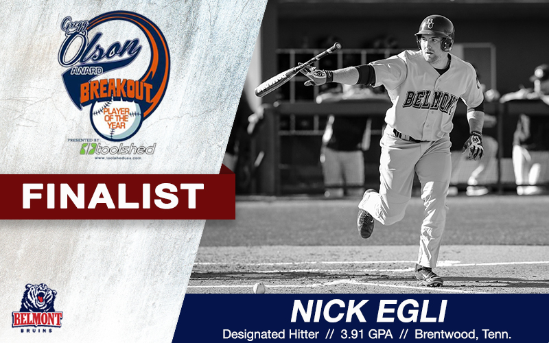 Egli Named Gregg Olson Award Finalist