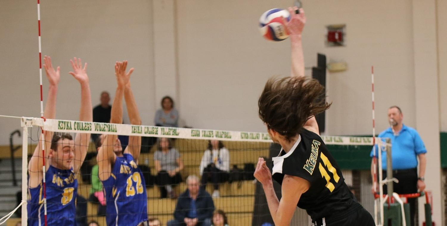 Alex Riley (11) tied his career-high with 11 kills on Saturday -- Photo by Sarah Tyler