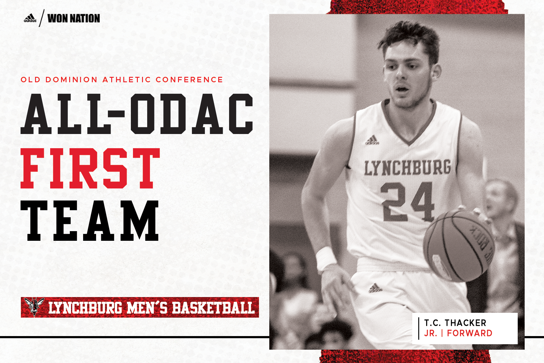 Two men's basketball players earn All-ODAC nods