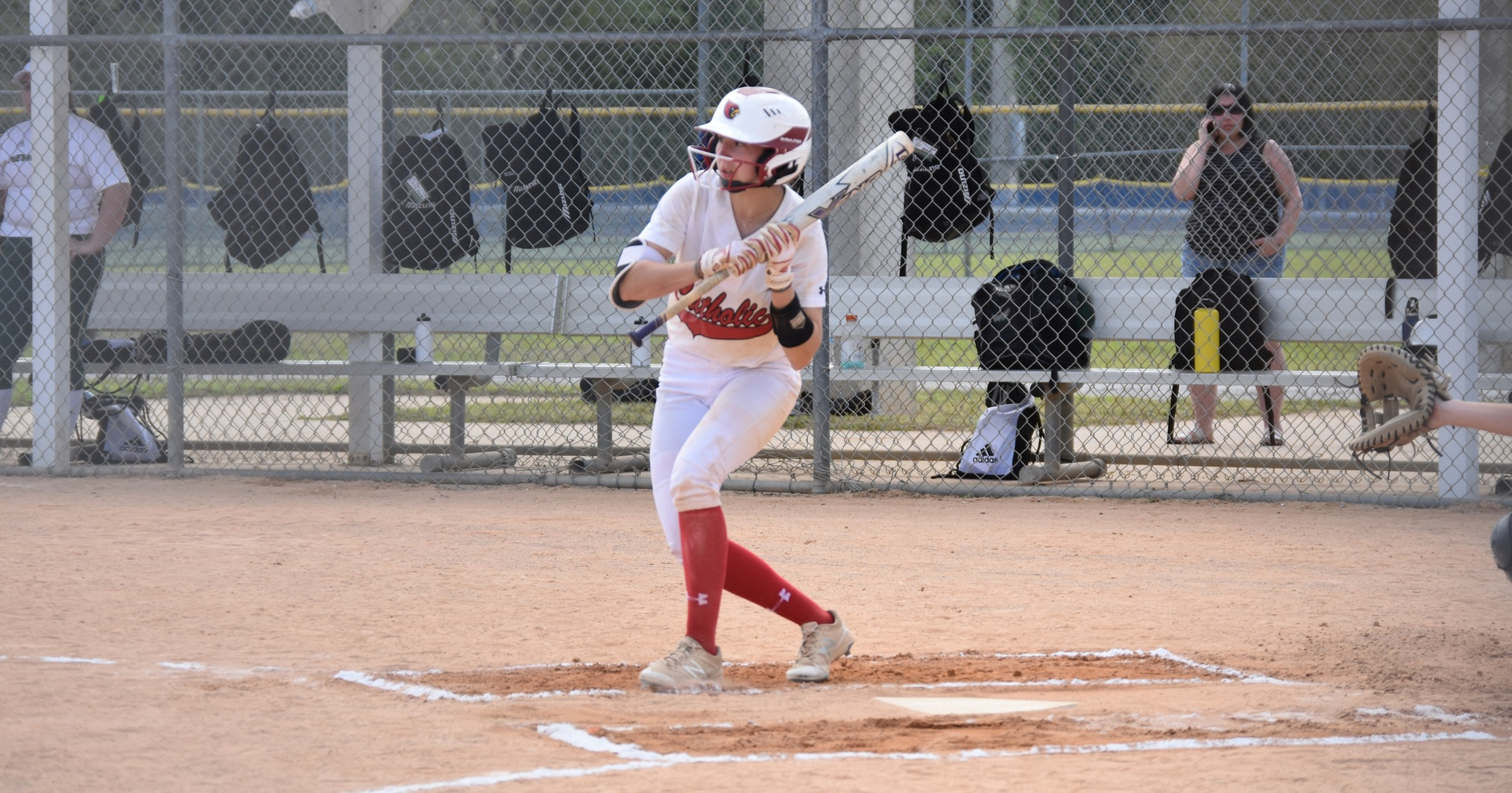 Bruder Totals Four Hits, Cardinals Swept by Immaculata