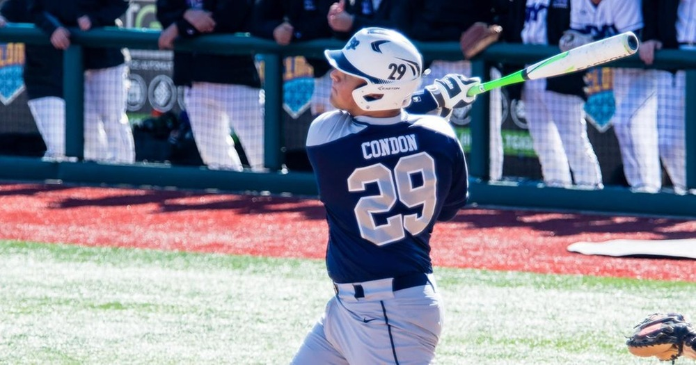 John Condon closes the season on a 12-game hitting streak and with a team-leading .432 average