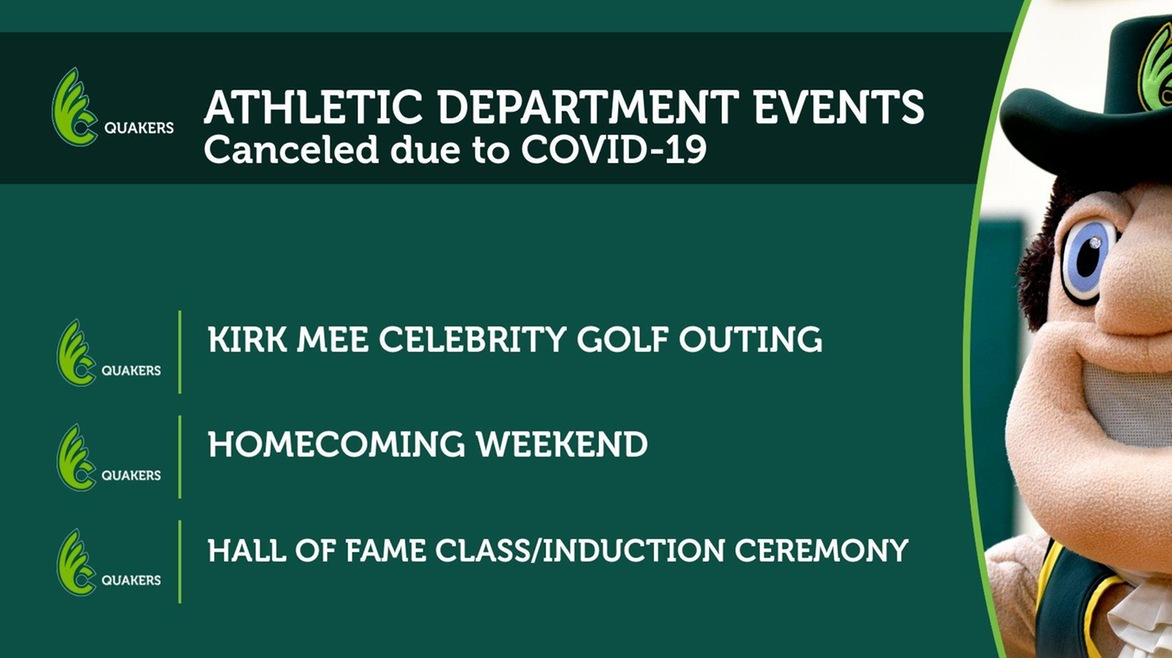 Homecoming, Hall of Fame, Kirk Mee Celebrity Golf Outing Canceled