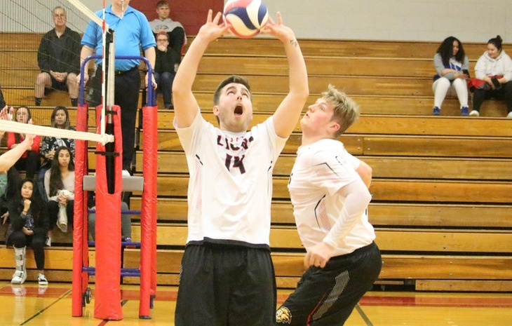 Men's Volleyball Sweeps Pine Manor, Edges Regis in Five Sets Saturday
