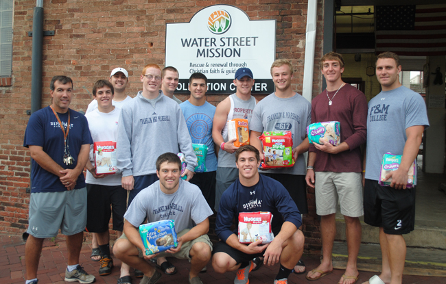 Football Donates over 7,500 Diapers