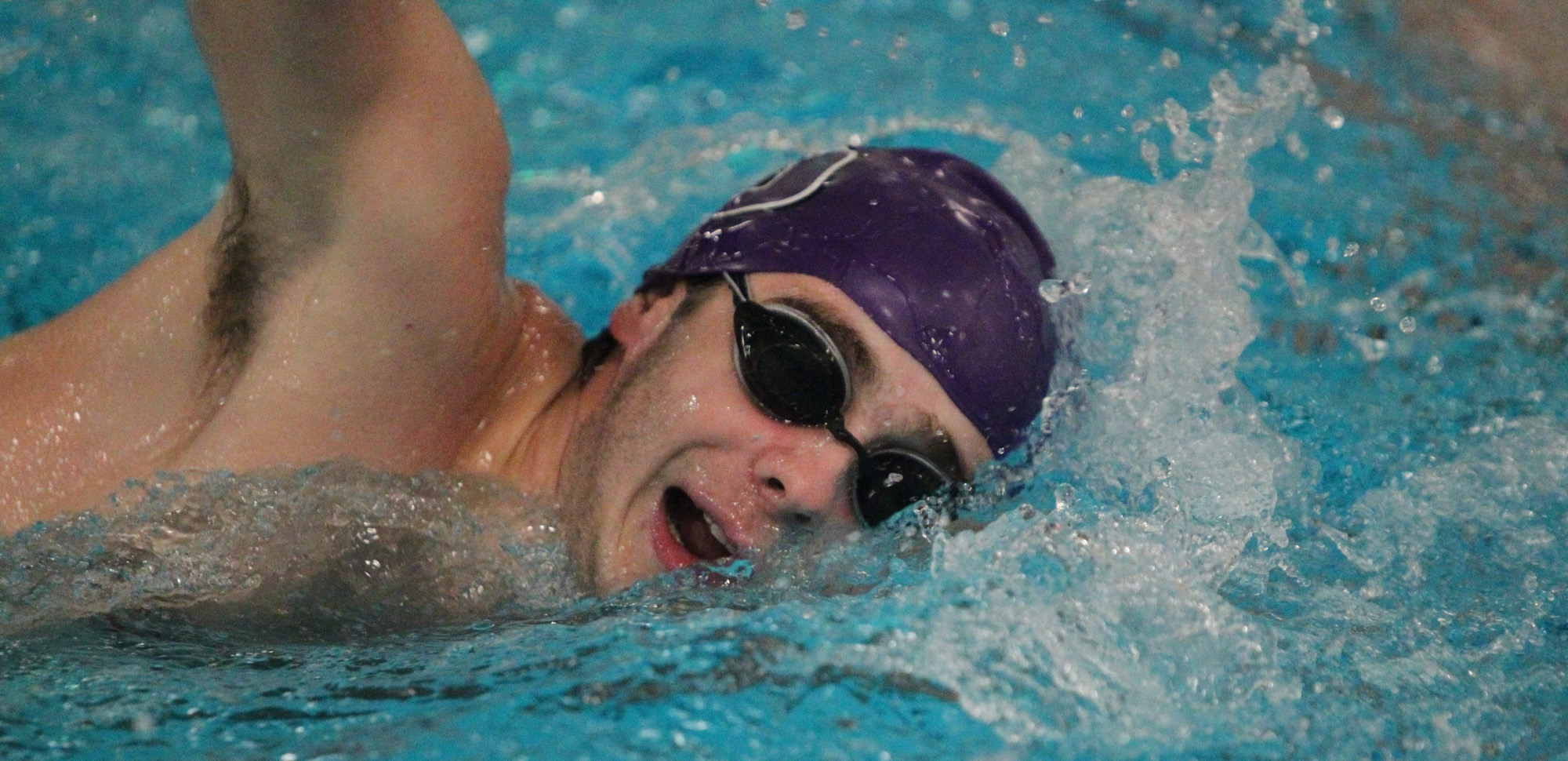 Junior John Fimmano helped Scranton win a relay and won an individual event on the evening vs. Drew on Friday night in the Byron Center.
