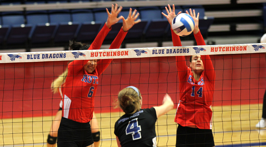 Blue Dragon Volleyball defeats No. 17 MSU-West Plains, but falls to No. 9 Tyler on Day 1 of the Allen Samuels/Blue Dragon Classic on Friday at the Sports Arena. (Bre Rogers/Blue Dragon Sports Information)