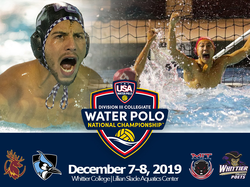 Division III Collegiate Men's Water Polo National Championship Set For December 7-8, 2019