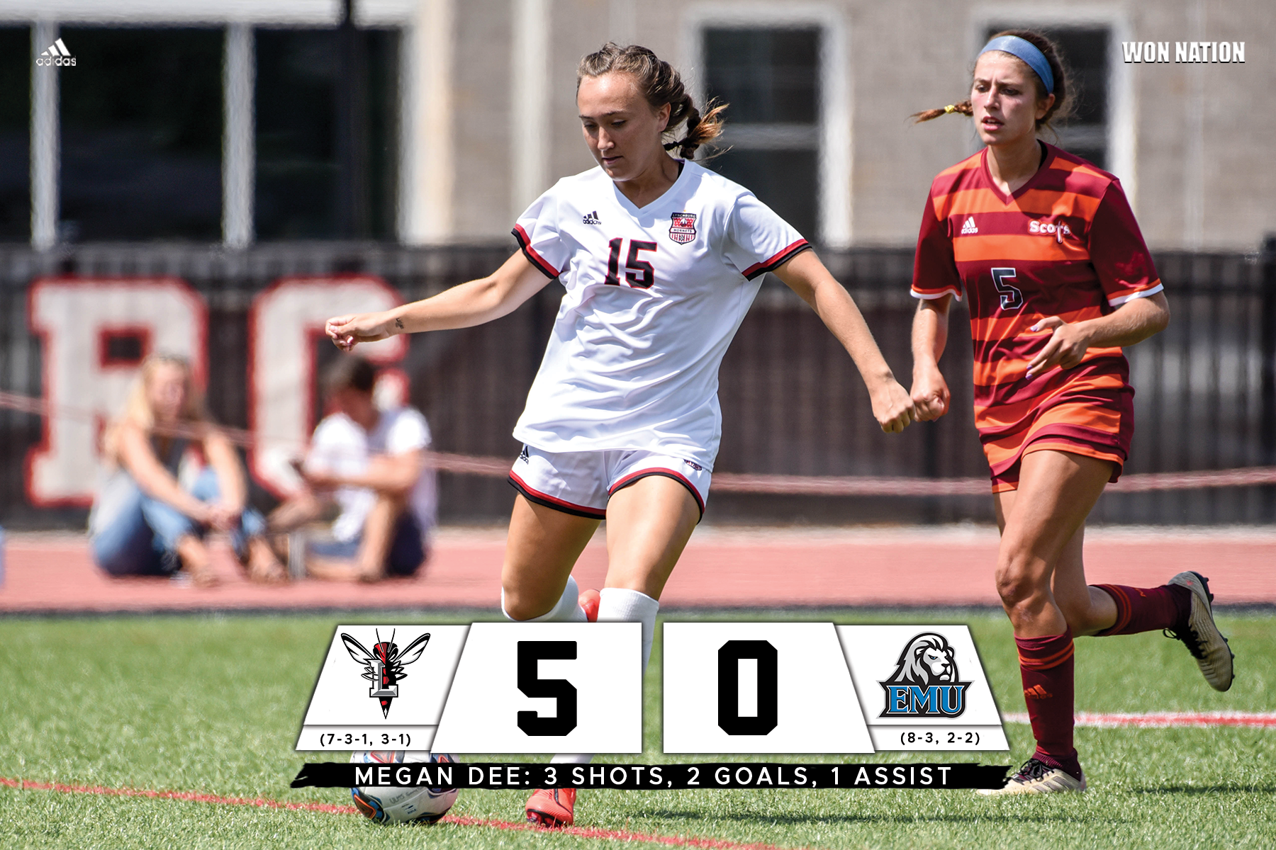 Women's soccer wins third in a row, shuts out EMU