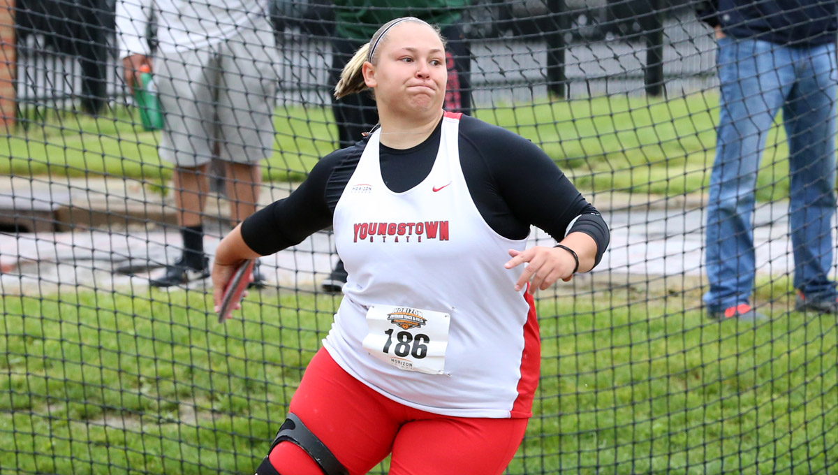Jaynee Corbett won her second straight Horizon League discus title.