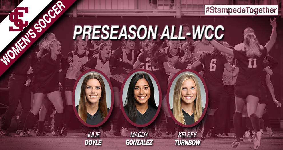 Women's Soccer Picked To Win WCC, Three Named Preseason All-Conference