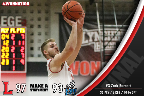 Men's Basketball Edges Eastern Mennonite, 97-93