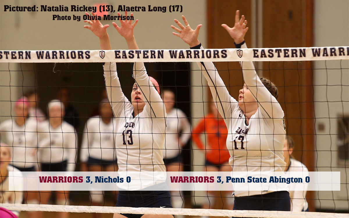 Women's Volleyball: Warriors Sweep Non-Conference Pair, Now 12-6