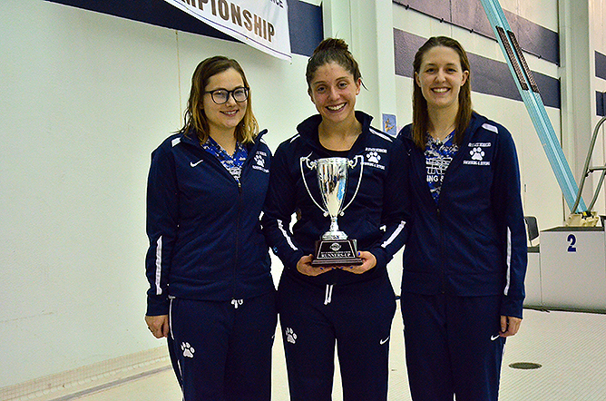 Women's Swimming Places Second at AMCC Championships; Lowery Swimmer of the Year