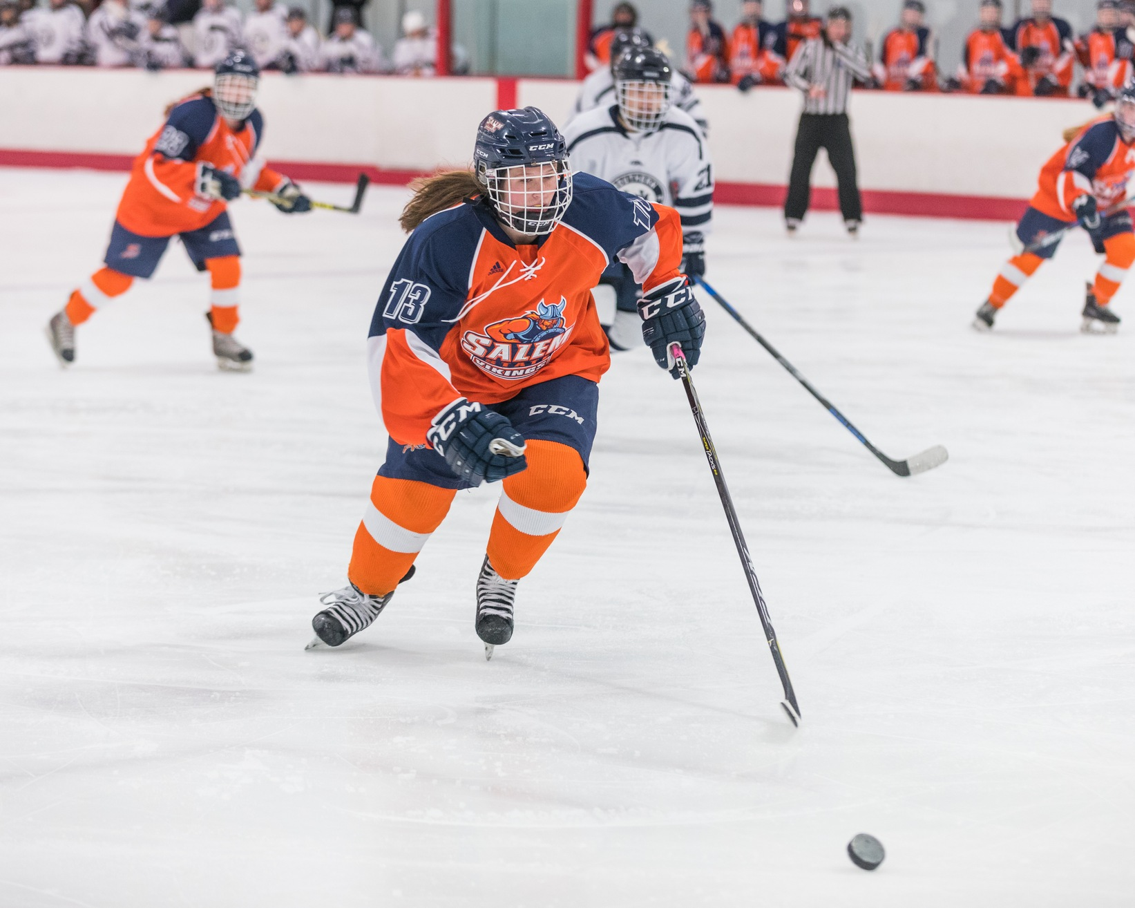 Salem State Skates Past New England College 4-1
