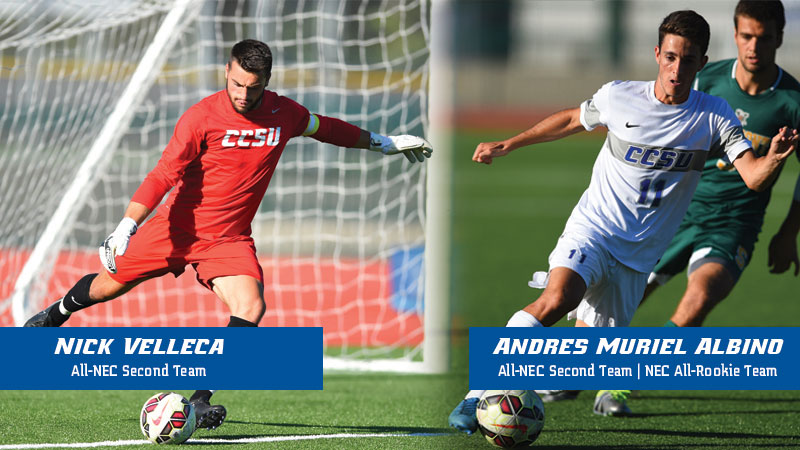 Velleca, Muriel Albino Earn All-NEC Honors