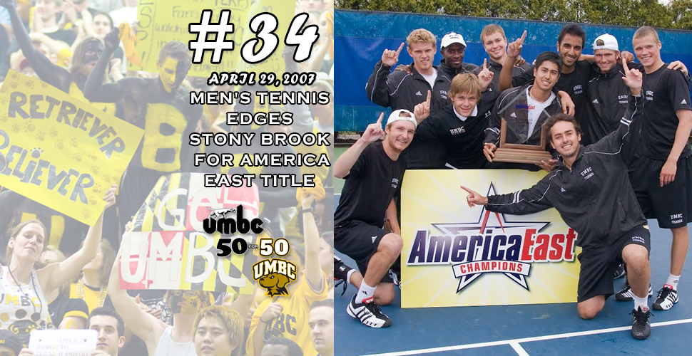 #retriever50for50 -  Puryear's Men's Tennis Squad Edges Stony Brook for America East Title