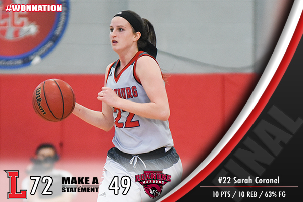 Women's Basketball Rolls Past Roanoke, 72-49