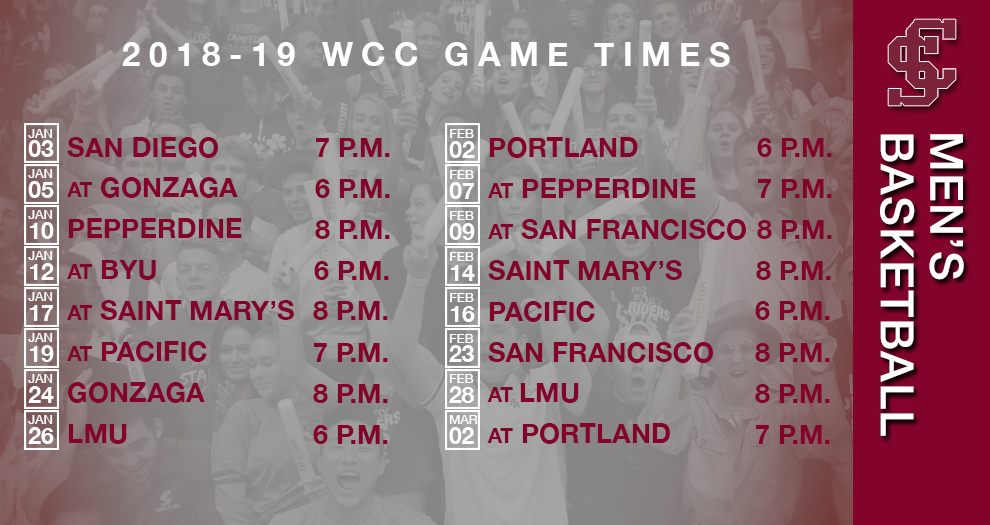 Men's Basketball Game Times Finalized