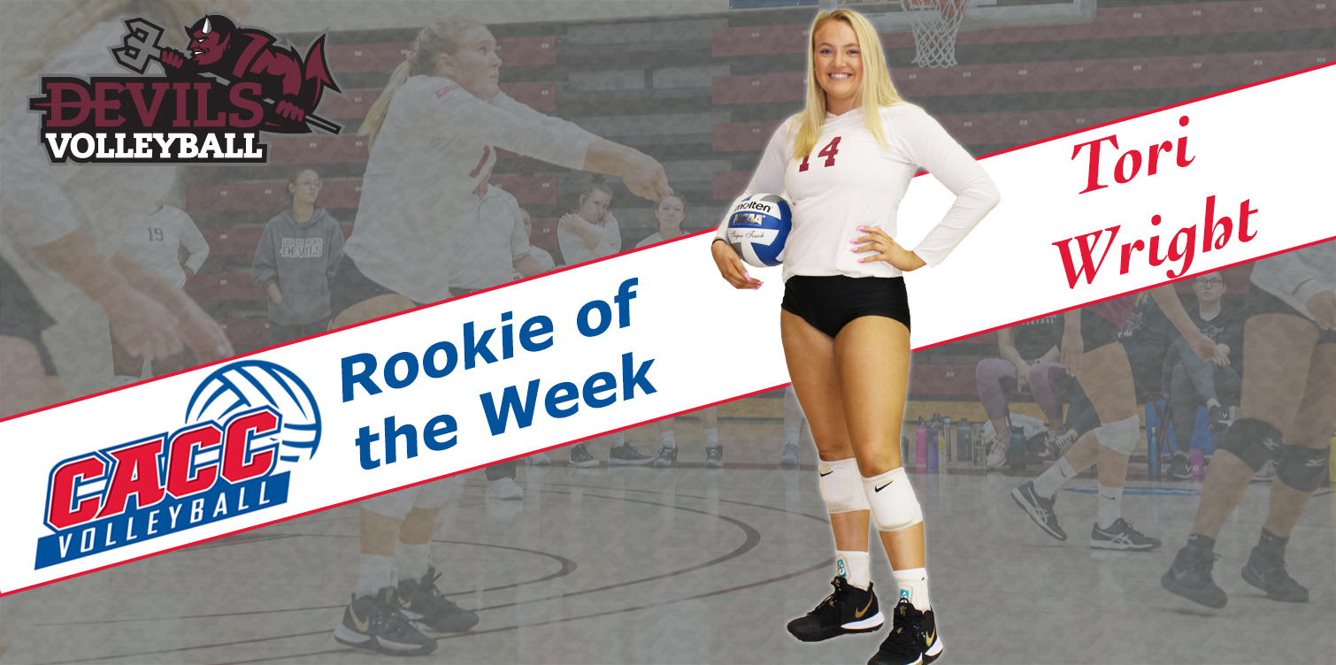 Wright Wins Second CACC Rookie of the Week Award of Season