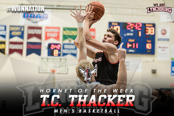 Hornet of the Week: T.C. Thacker shoots the ball.