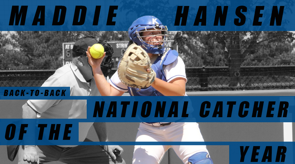 Photo for Hansen named NFCA Catcher of the Year