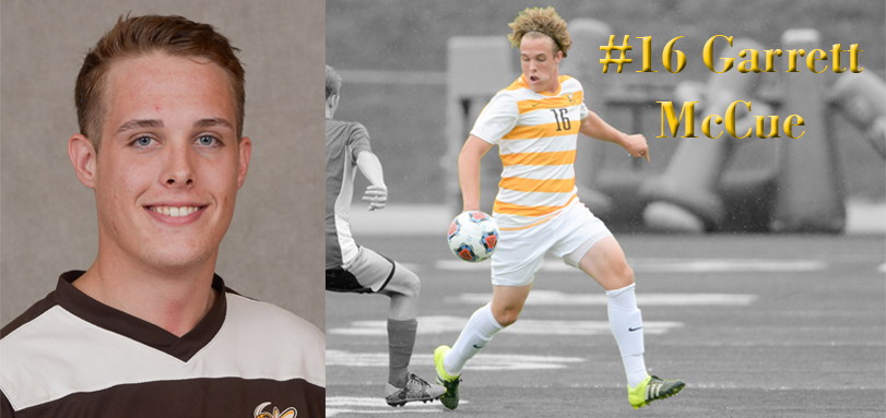 Junior defender Garrett McCue