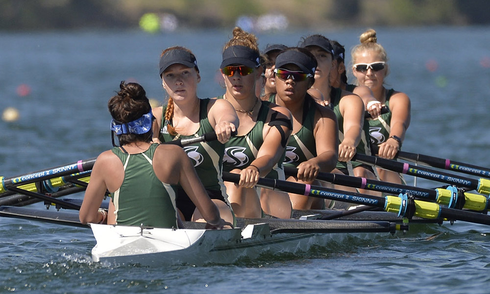 ROWING BEATS UC DAVIS BY 43 SECONDS, WINS 17TH JEAN RUNYON CUP