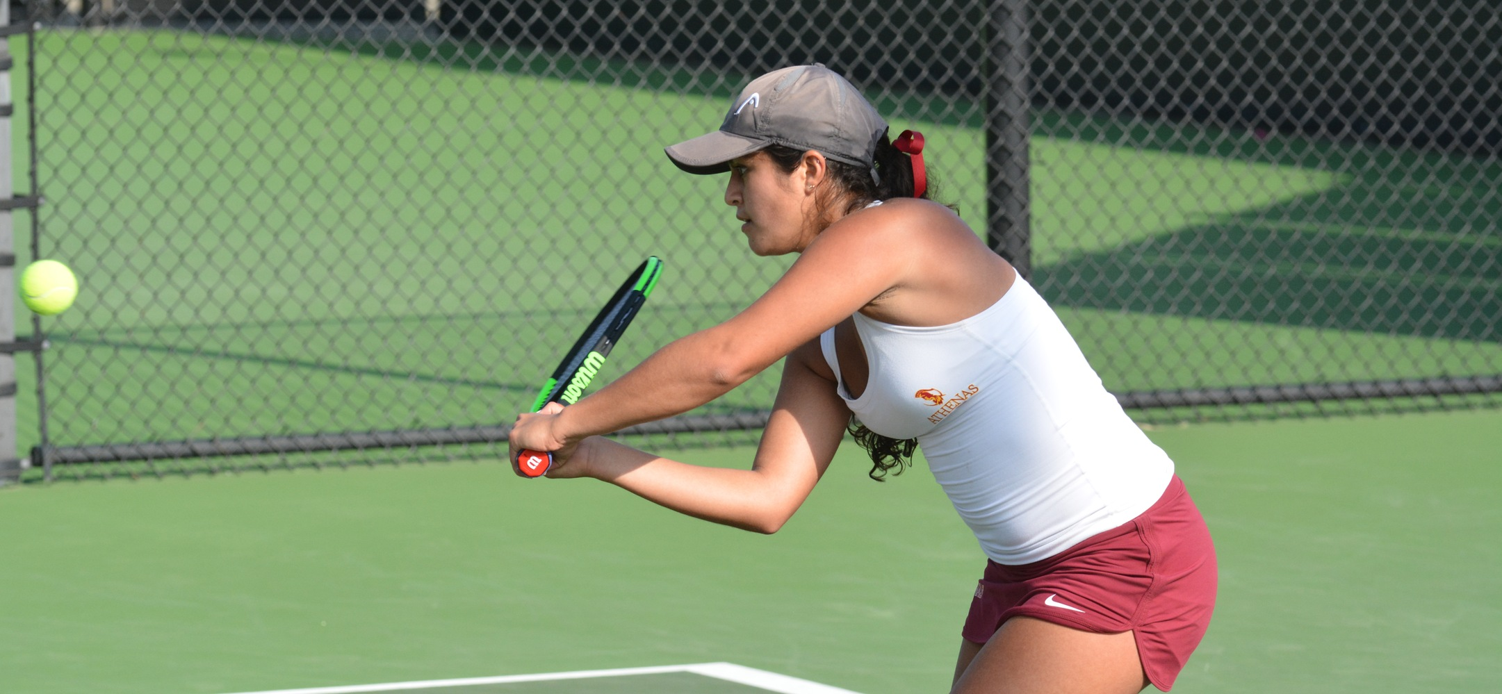 Sarah Bahsoun had the clinching win at No. 4 singles for the Athenas.