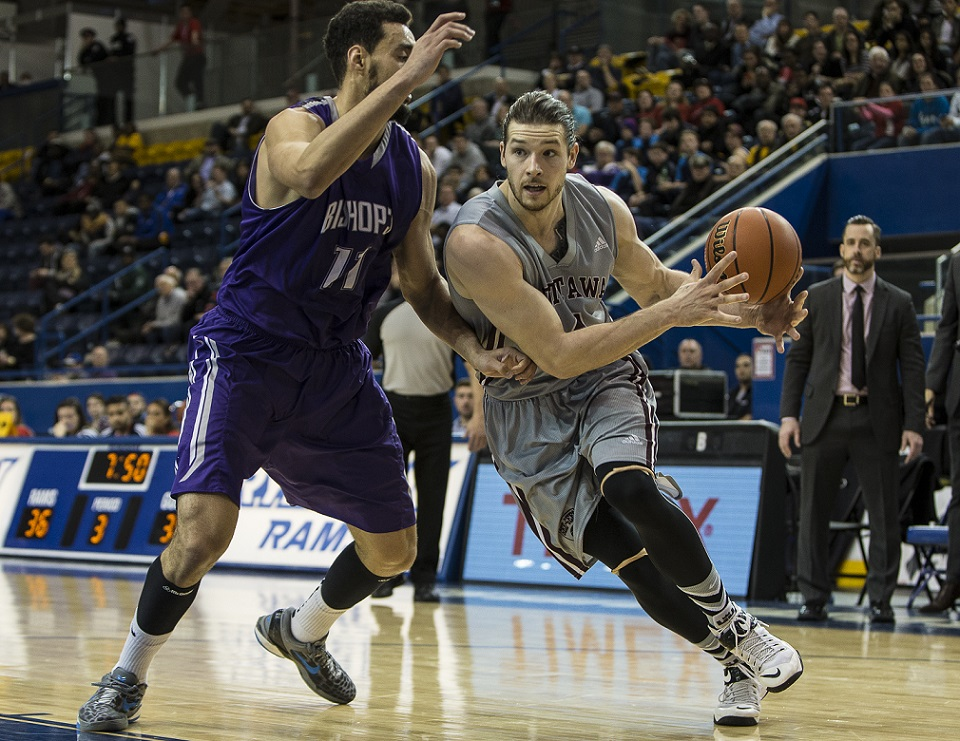 QUARTERFINAL #4 ArcelorMittal Dofasco CIS men's basketball championship: Gee-Gees survive scare, off to third straight national semifinal