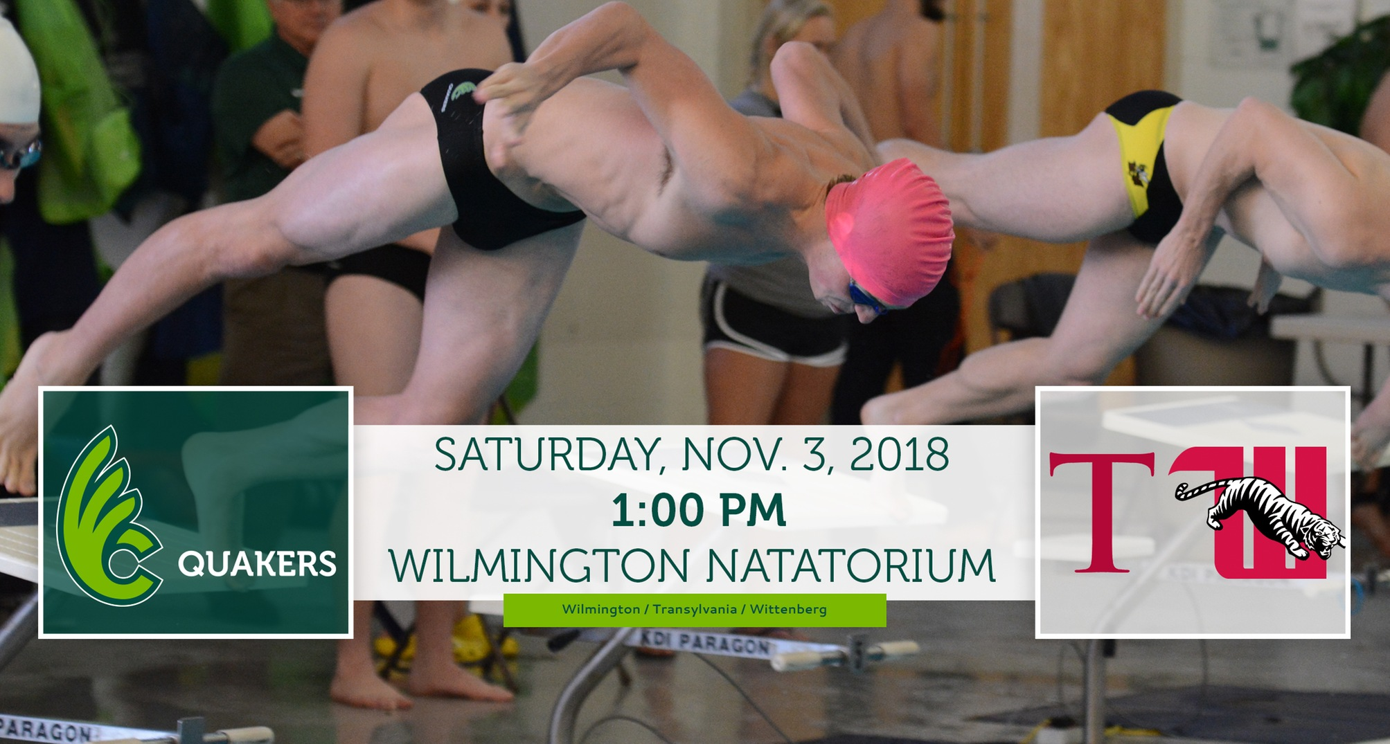 Men's Swimming Hosts Double Dual Meet Saturday
