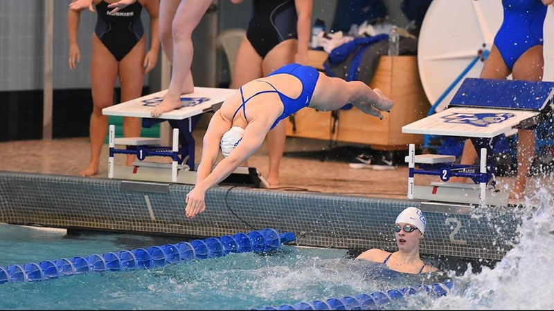 Swimming and Diving Trails New Hampshire After Day One of Dual Meet