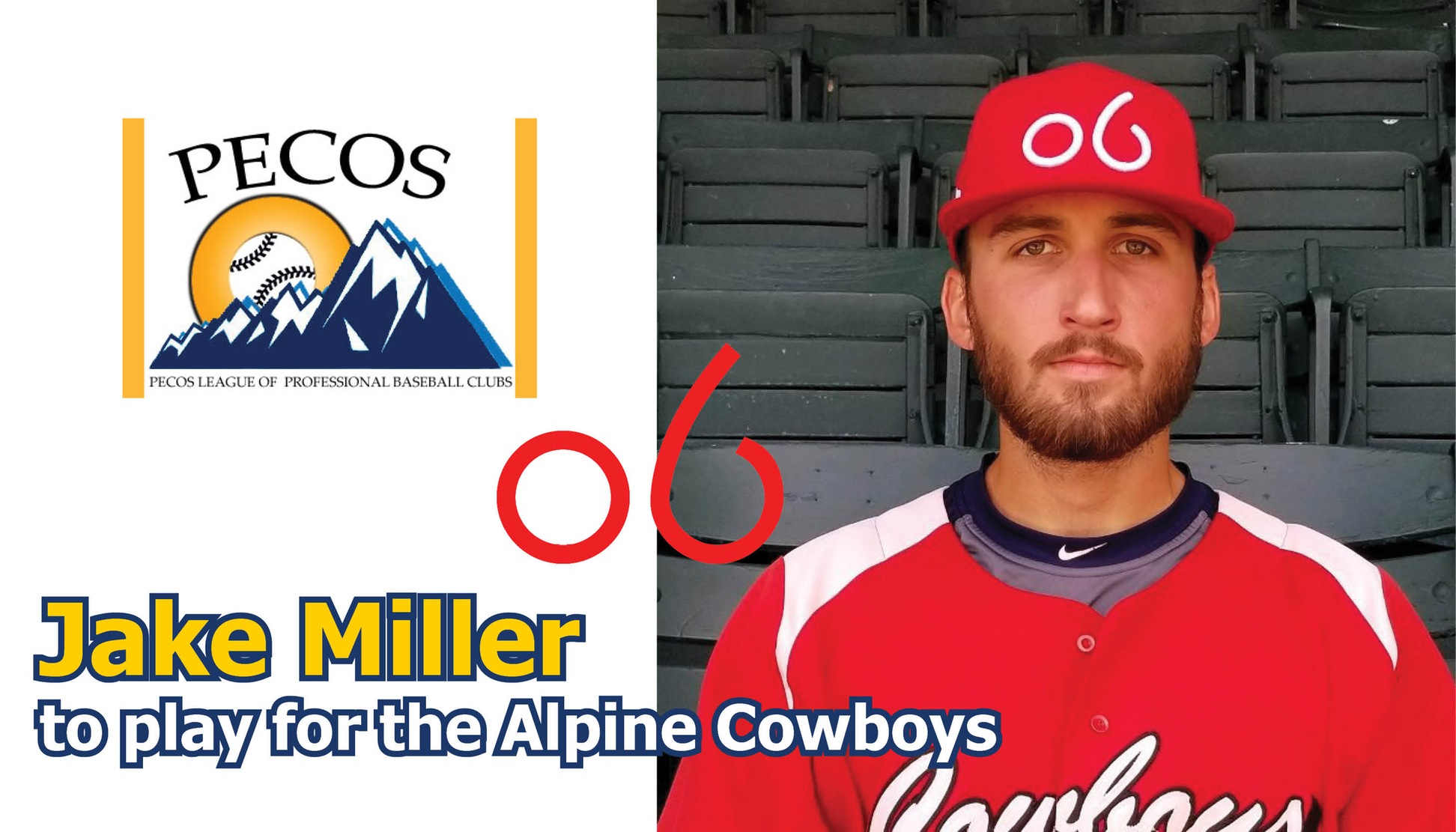 Jake Miller to play for the Alpine Cowboys