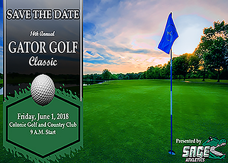 Mark your calendar for June 1 and the 14th Annual Gator Golf Classic!