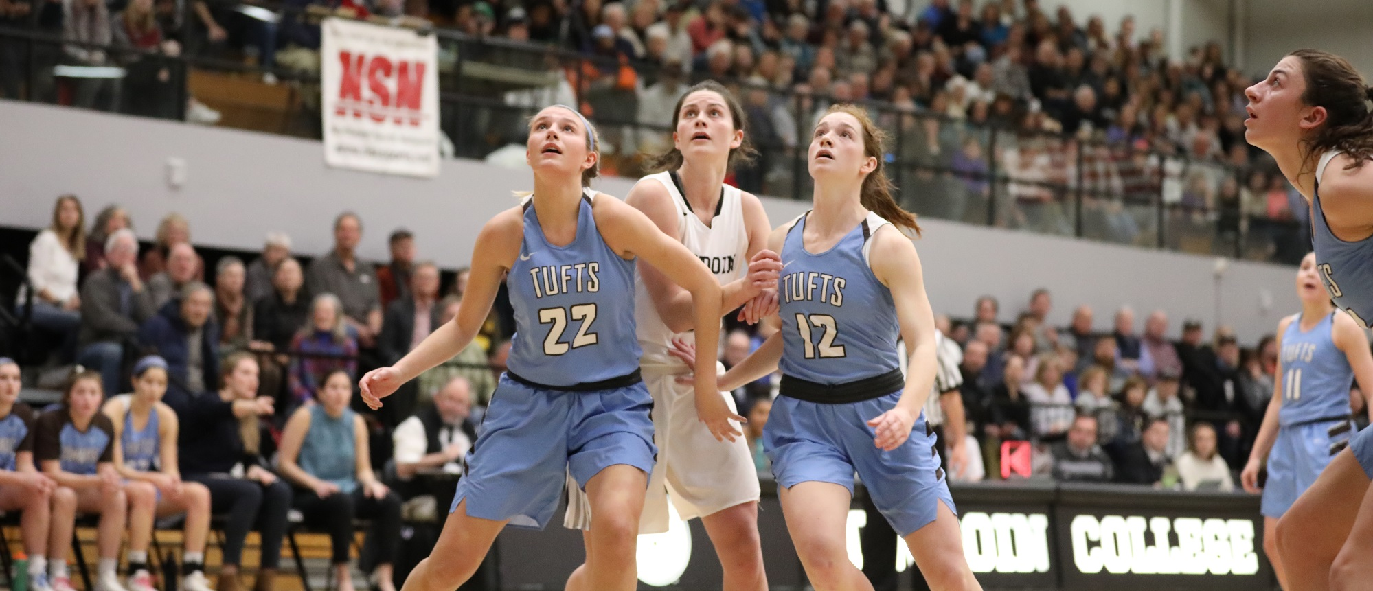 #1 Women's Basketball Earns 97-88 Win at #2 Bowdoin Friday Night