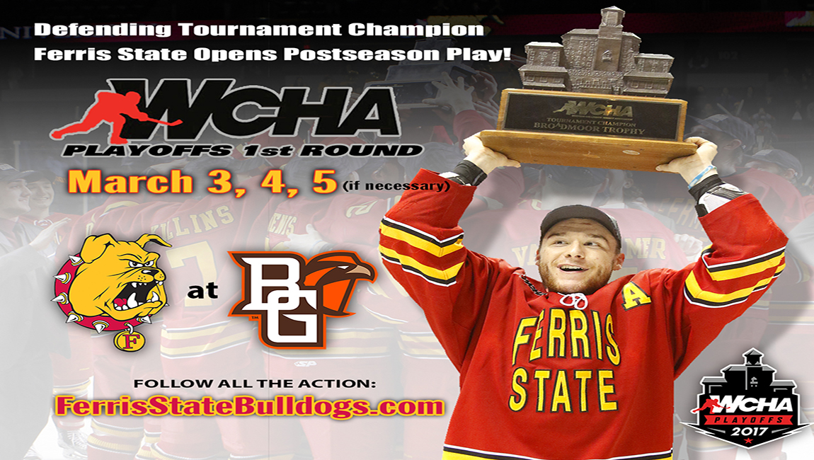 Defending Broadmoor Trophy Champions Begin Postseason Quest At Bowling Green In WCHA Playoffs This Week