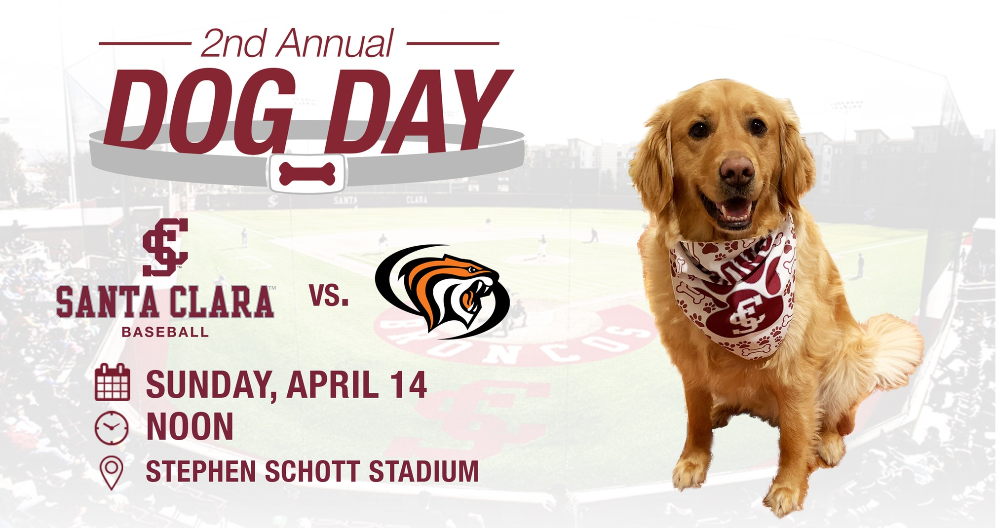 Second Annual Dog Day At Stephen Schott Stadium On Sunday, April 14