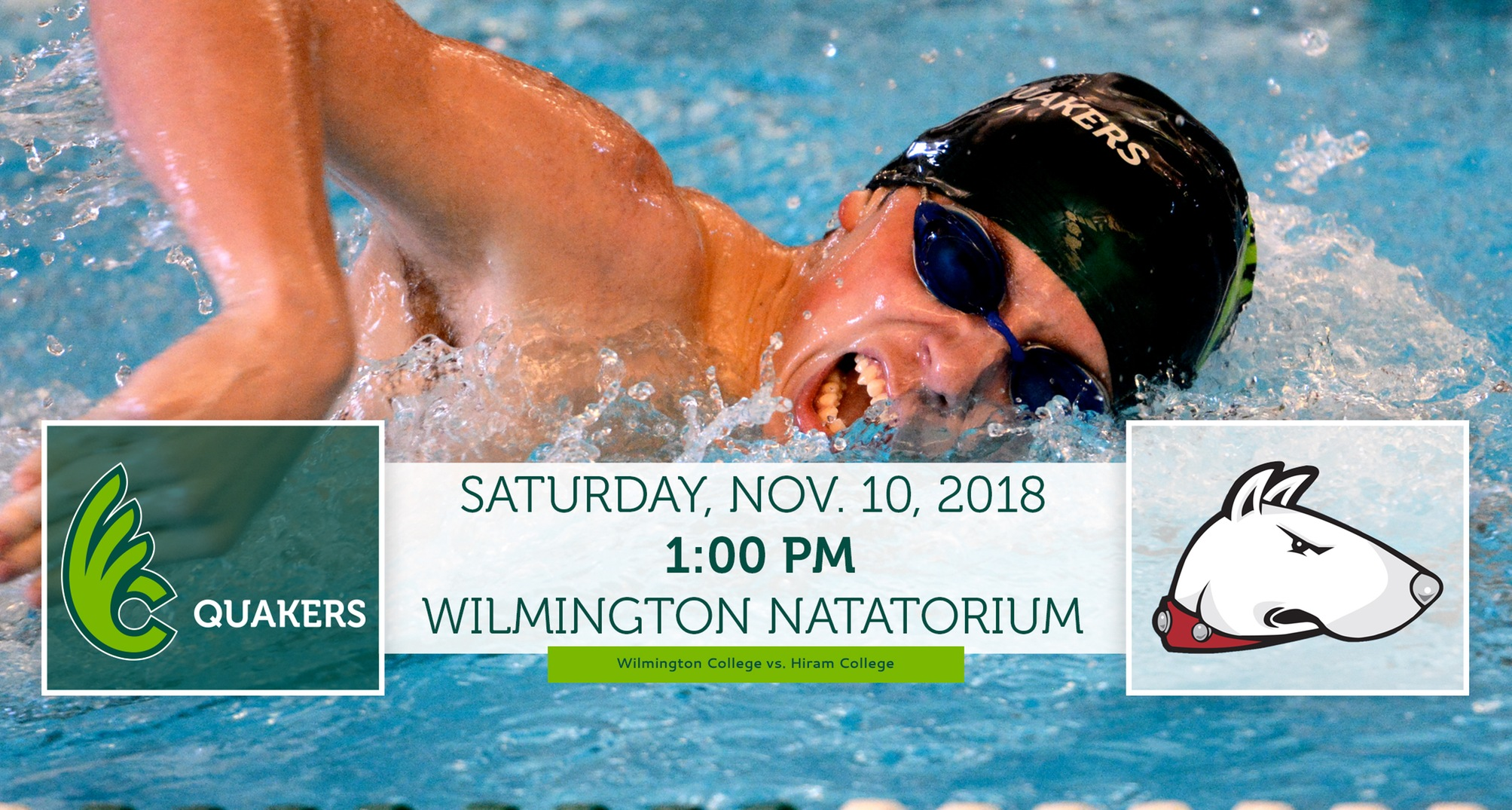 Men's Swimming Hosts Hiram in Dual Meet Saturday