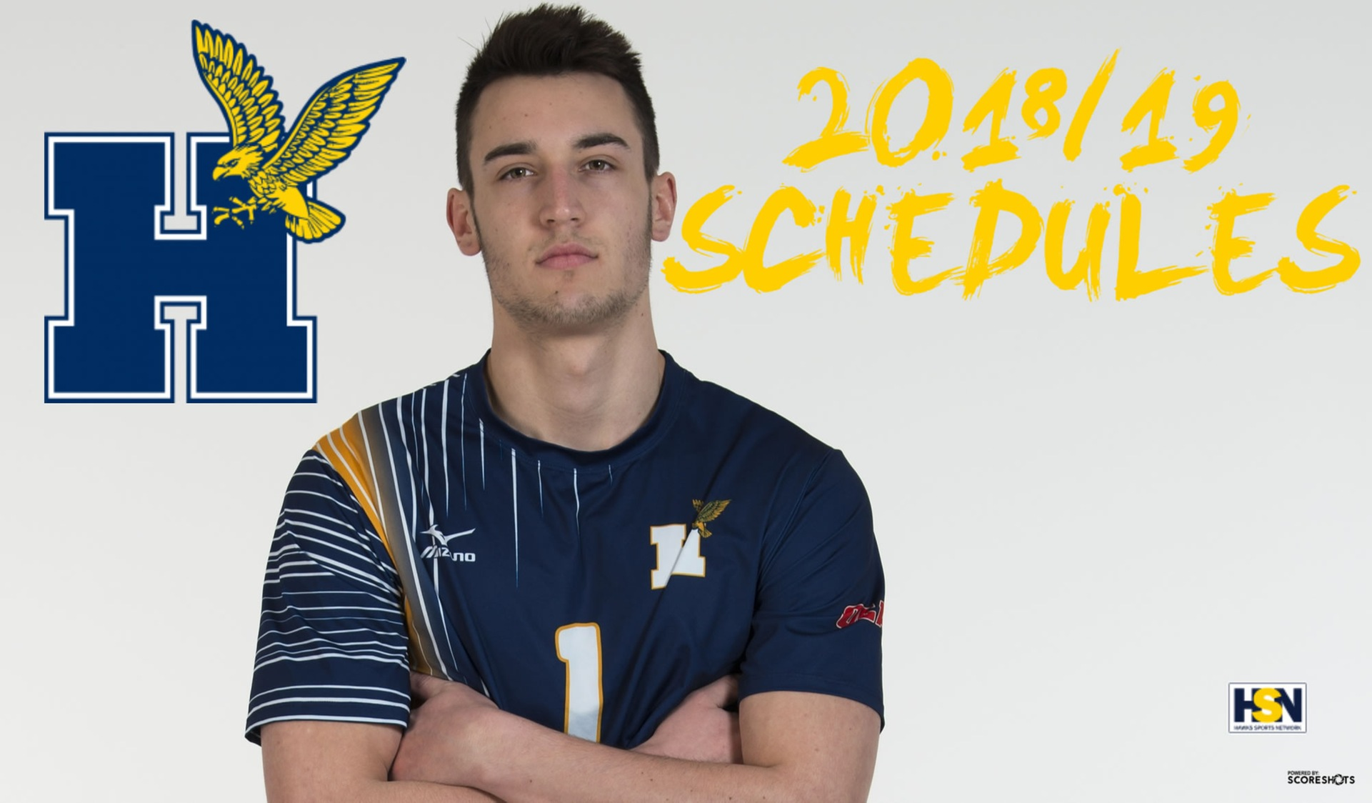 2018/19 HAWKS MEN'S VOLLEYBALL SCHEDULES RELEASED